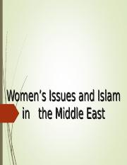 8 Women's Issues and Islam in the Middle East - 2016.ppt