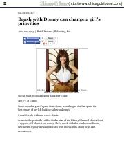 Disney's effect on girls, and it's not good - Chicago Tribune.pdf