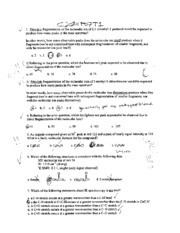 Organic Chem II Fall 2007 Exam 1