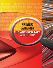 RA 9485 - Anti-Red Tape Act of 2007 (Primer).pdf