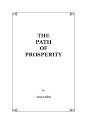 The Path of Prosperity - James Allen