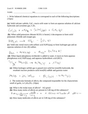 Stoichiometry Homework Answer Key
