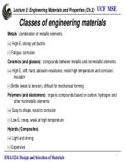 3. Engineering materials and properties