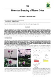Molecular Breeding of Flower Color