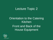 Lecture topic 2 - Equipment