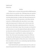 peer pressure essay english illustrative essay chapter peer 2 pages political essay 4 paul ryan