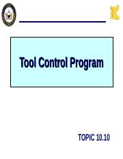 10.10 TOOL CONTROL.ppt