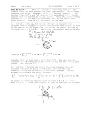 Sample Exam 4 Solution on Calculus III