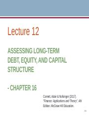 Lecture 12 (Long-term Financing II).pptx