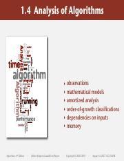 Analysis Of Algorithms Pdf 1 4 Analysis Of Algorithms Algorithms