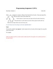 2010 Programming Assignment 2