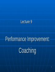 BUS20305 Lecture 9 Coaching