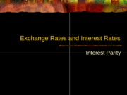 Interest Parity