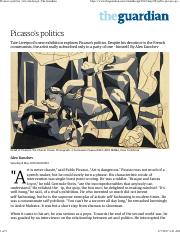 Picasso's politics _ Art and design _ The Guardian