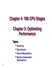 Week9_Chapter 4 Pipelines and Chapter 5 Optimization.ppt