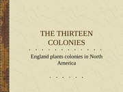 1. Founding the Thirteen Colonies