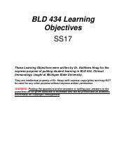 BLD 434 Learning Objectives SS17