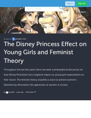 The Disney Princess Effect on Young Girls and Feminist Theory (with images, tweets) · sternb13 · Sto