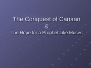 10_The Conquest of Canaan