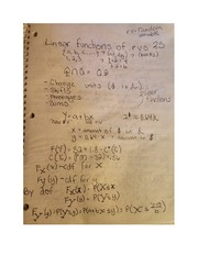 Linear Functions of RVS Notes MATH 352