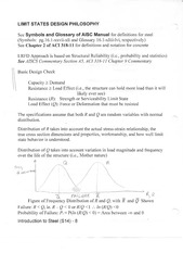Limit States Design Philosophy Notes