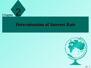 Chapter 2 (Determination of Interest Rate)