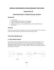 Lecture 6-Lab Handout-Spectroscopy System