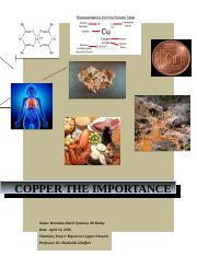 Copper the importance