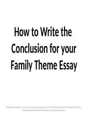 how to write a conclusion to a family theme essay   how to write the  how to write a conclusion to a family theme essay   how to write the  conclusion for your family theme essay muf how to write a conclusion to  a  course