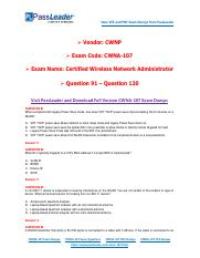 2018 New CWNP CWNA-107 Dumps with PDF and VCE (Question 91-Question 120).pdf