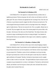 federalist essay no. 51 summary