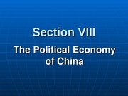 301-8 Political Economy of China