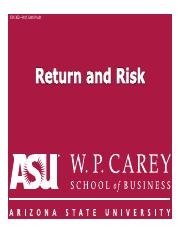 FIN302 06 Risk and return Part 1.pdf