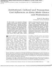 Institutional, Cultural and Transaction Cost Influences on Entry Mode Choice and Performance.pdf