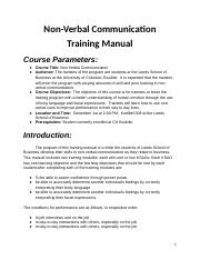 Training Manual Final Project
