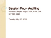 Session four-Auditing Spriing 2010