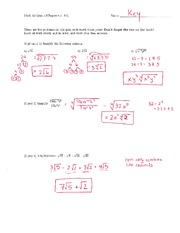 Math 125 Quiz 5 Key On Intermediate Algebra