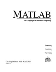 eBook - Getting started Matlab version 6 - MathWorks