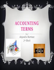 Accounting Terms Frayer Model