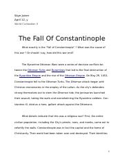 The Fall Of Constantinople  (1)