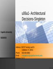 u06a1- Architectural Decisions-Singleton.ppt