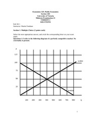 ECON 325 2011 Midterm 1 Version 2 Solutions