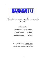 project government expenditure