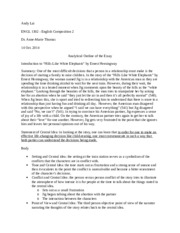 ernest hemingway study resources 2 pages analytical outline of the essay
