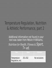 Lecture21-HeatInjuriesFoodAthleticPerformance-TeachingNotes