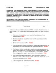Final Exam -- CEIE 340 -- Fall 2006 -- MHH Solutions