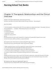 03.Chapter 9_ Therapeutic Relationships and the Clinical Interview _ Nursing School Test Banks.pdf