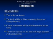 Wk. 10, Lect. 1 - Integration