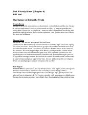 Unit II Study Notes (Chapter 4).docx