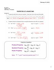 Examples 8.6 A2AB - properties of logs
